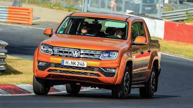 2018 Volkswagen Amarok Pickup Track Test Review | A truckload of fun on the 'Ring