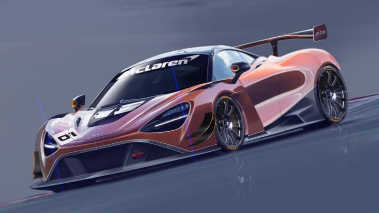McLaren 720S GT3 race car shown off in renderings