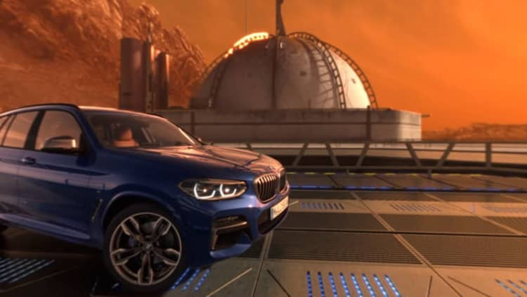 BMW invites users to take new X3 for a virtual spin on Mars
