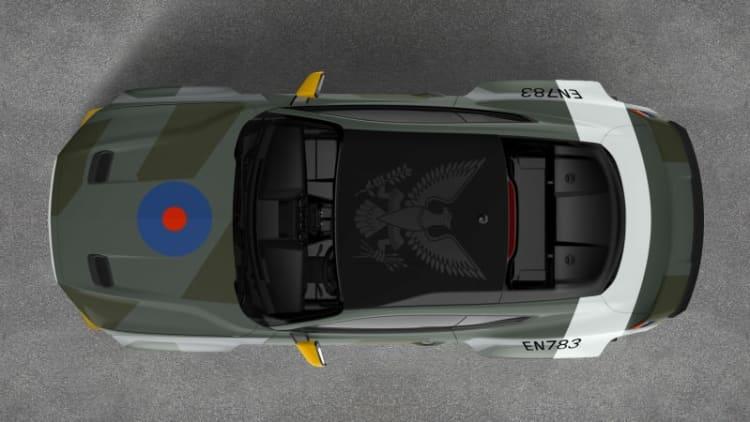 Ford and Vaughn Gittin Jr. build custom Eagle Squadron Mustang