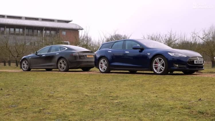 Tesla Model S shooting brake video shows EV wagon in motion inside and out