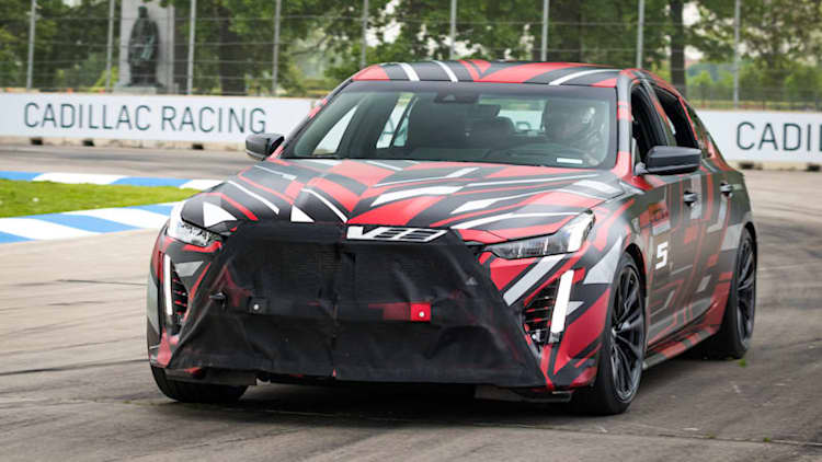 Cadillac teases two new V-Series prototypes at the Detroit Grand Prix