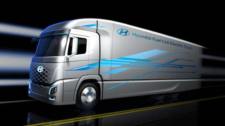 Hyundai to unveil hydrogen fuel cell semi truck