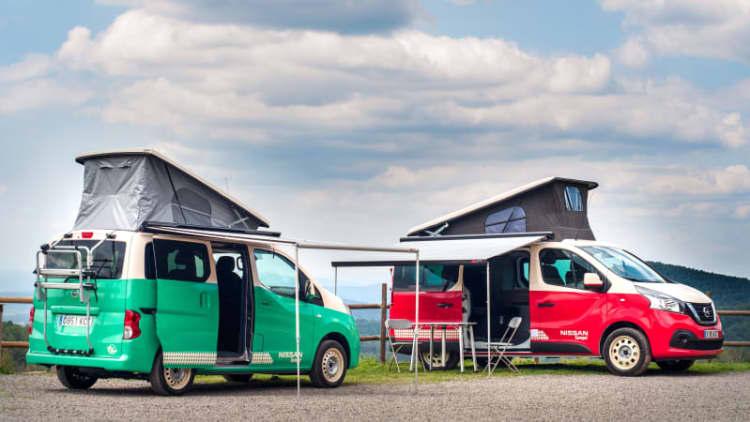Nissan NV300 and e-NV200 camper vans debut at Madrid Motor Show