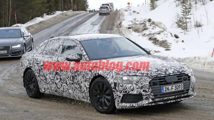 2018 Audi A6 endures winter training in Norway