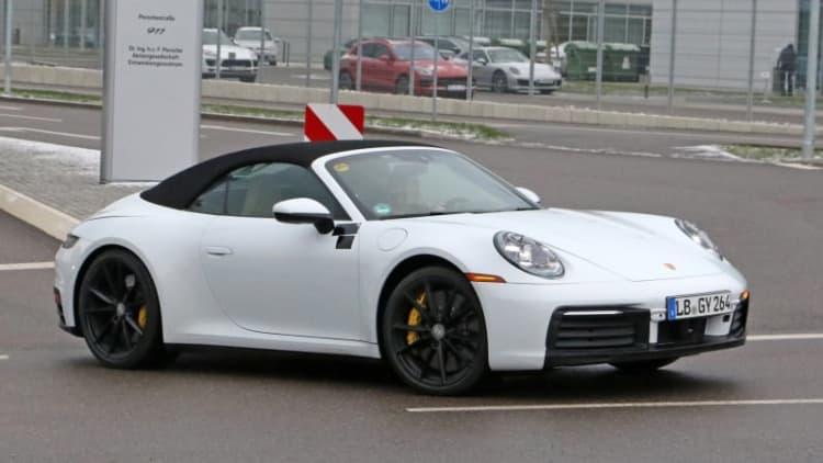 2020 Porsche 911 Cabriolet spied undisguised