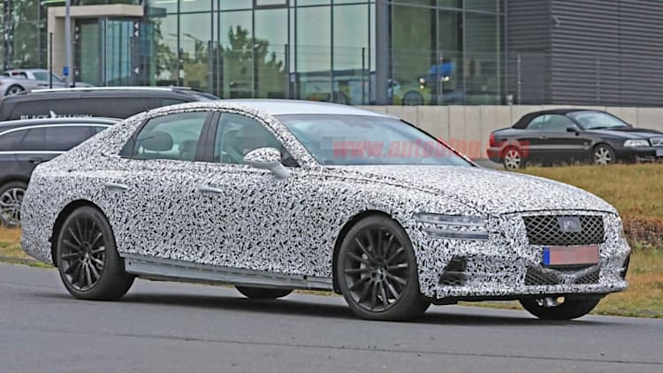 2020 Genesis G80 shows its face and more in new spy photos