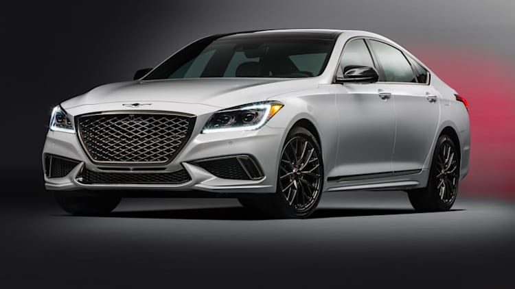 The twin-turbo V6 Genesis G80 Sport costs almost as much as the V8 model