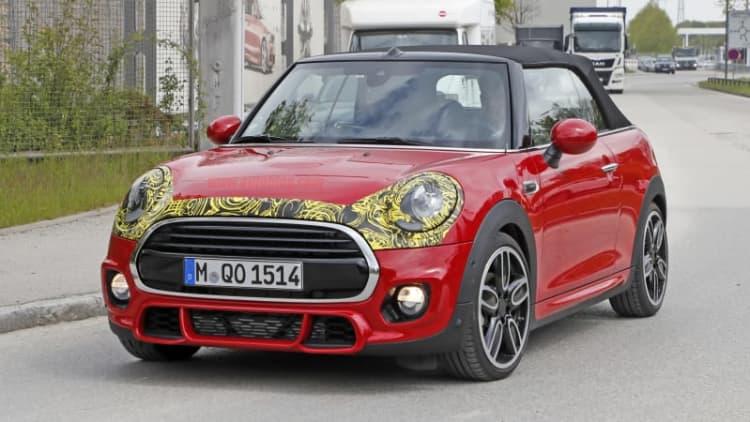Spy shots show Mini Cooper facelift