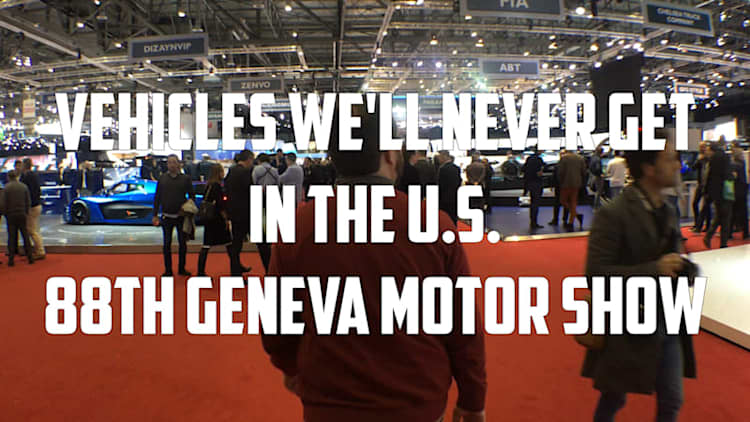 Come see all the cool cars in Geneva that we don't get in America