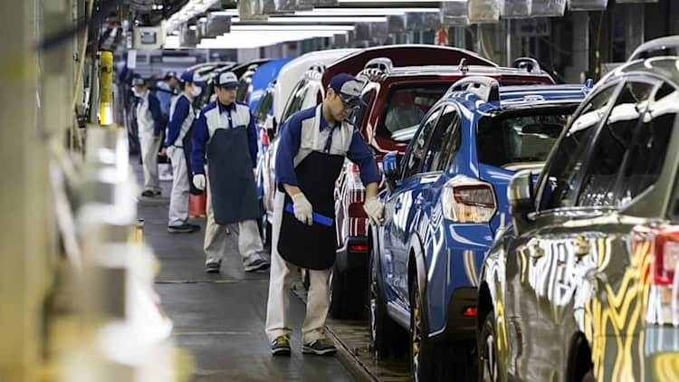 Subaru says Japan car output halted due to defective part