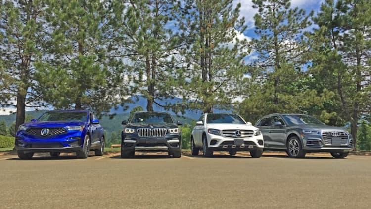 2019 Acura RDX vs. Audi Q5 vs. BMW X3 vs. Mercedes GLC300 vs. Volvo XC60