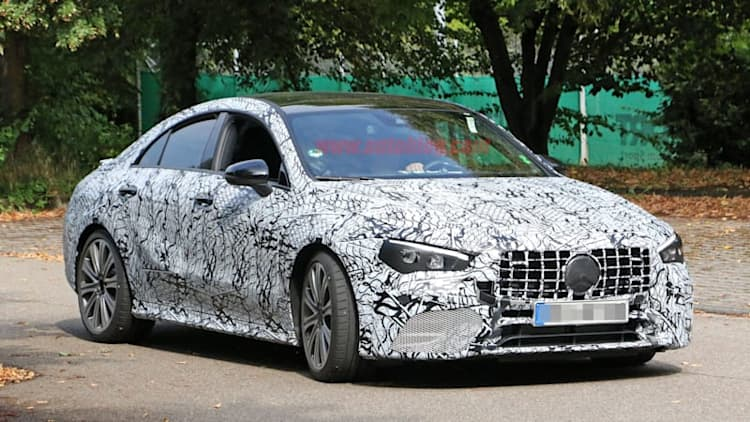 Mercedes-AMG CLA 45 spied looking mean ahead of its official reveal