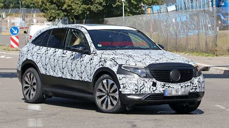 2020 Mercedes-Benz EQ C electric crossover spied nearly production-ready