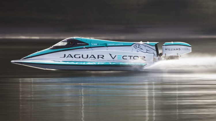 Jaguar's electric speedboat smashes decade-old record