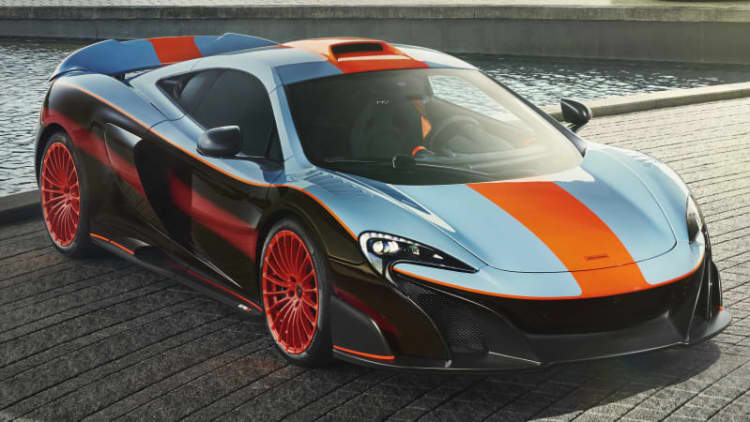 McLaren 675LT gets paint scheme from its dad