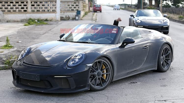 2020 Porsche 911 Speedster spied with an angry driver