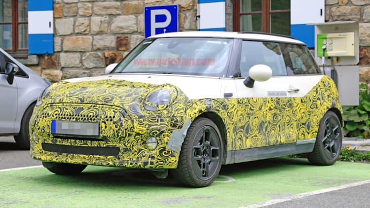 2020 Mini E caught in the Alps with concept looks