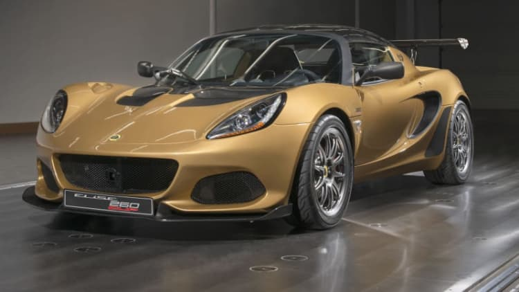 Lotus Elise Cup 260 celebrates the automaker's 70th anniversary