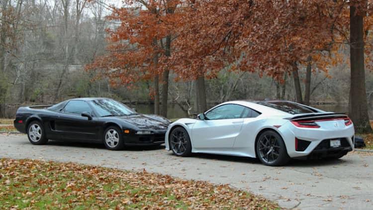 2019 Acura NSX vs. 1991 Acura NSX   Respect your elders