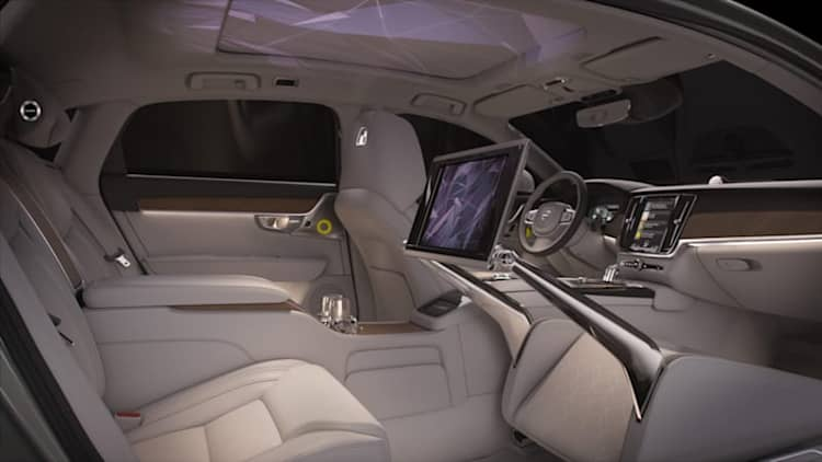 Volvo S90 Ambience concept is complete with light show and scents