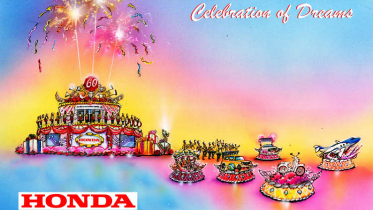 Honda to lead Rose Parade with hybrid tech