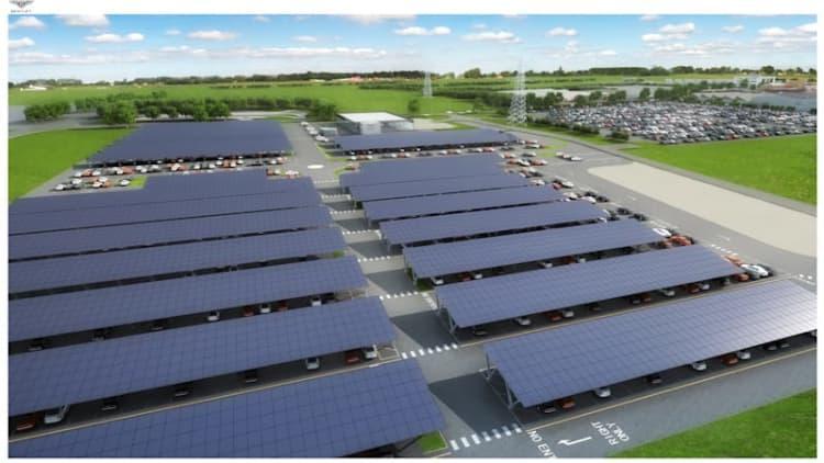 Bentley installing 10,000 solar panels in HQ parking lot