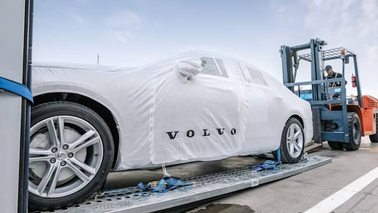 Volvo exports first China-made S90s to Europe - by rail