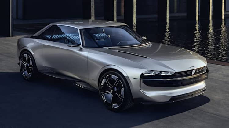 Peugeot E-Legend concept is an electric take on a classic coupe