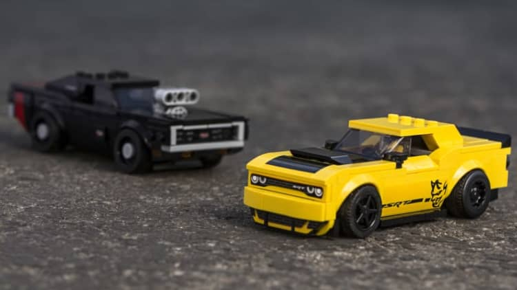 2018 Dodge Challenger Demon, 1970 Charger become Lego cars