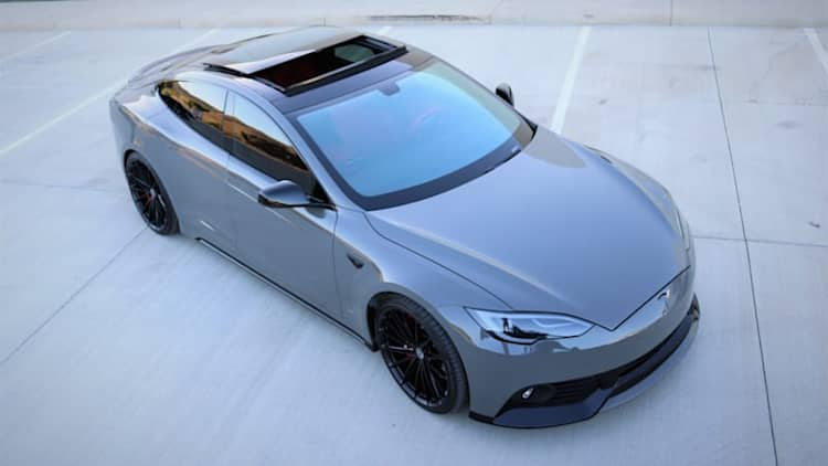 This modified Tesla Model S packs a $40,000 paint job