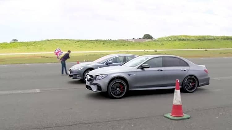 Watch 'Top Gear' race a Tesla Model S against a Mercedes-AMG