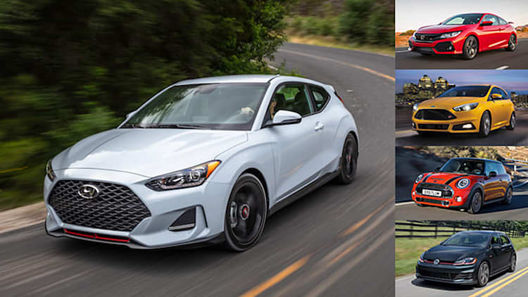 2019 Hyundai Veloster Turbo vs. sporty hatchbacks and coupes: How they compare on paper