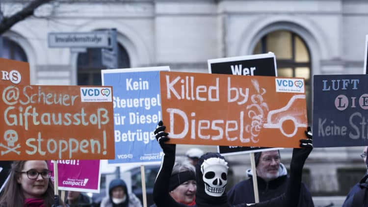 German cities can ban older diesel cars immediately