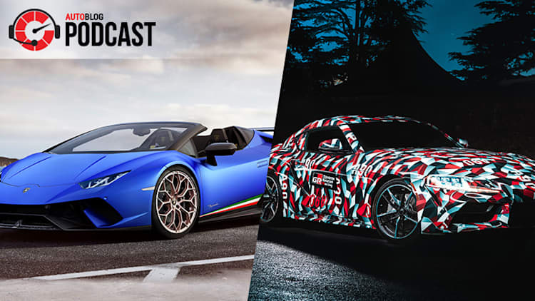 A fast Lamborghini, a four-cylinder Supra and Peugeot's return | Autoblog Podcast #547