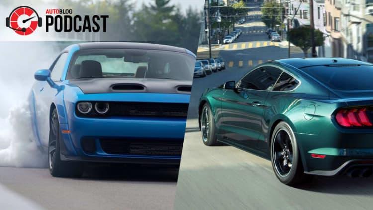 Mustang Bullitt and Hellcat Redeye   Autoblog Podcast #549