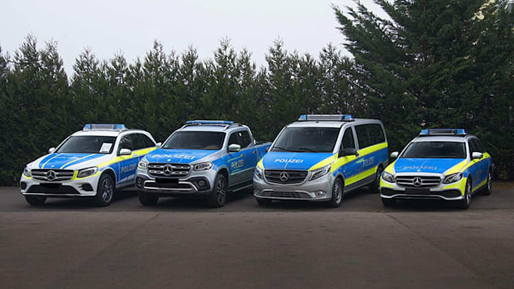 Mercedes shows off new police vehicles, including X-Class truck