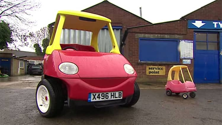 You can buy the grown-up, road-legal Little Tikes car