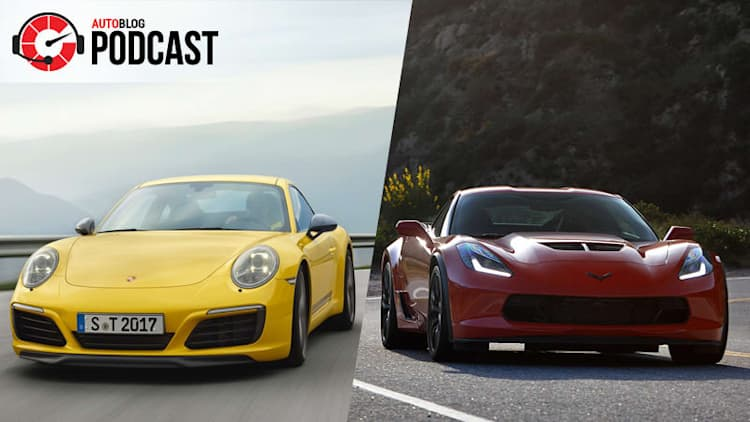 Driving the Chevy Corvette Z06 and Porsche 911 Carrera T | Autoblog Podcast 551