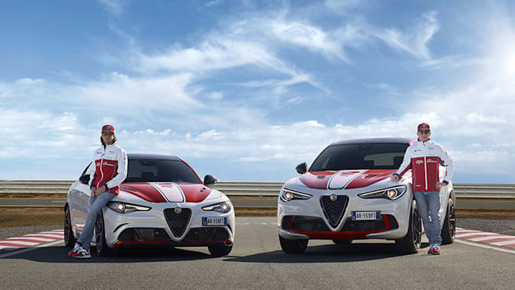 Alfa Romeo Giulia and Stelvio celebrate brand's return to F1