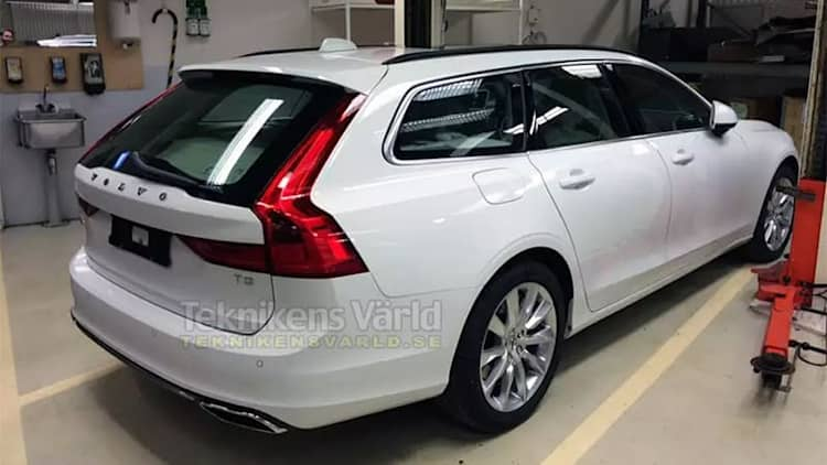 Volvo V90 wagon looking good in Swedish leak