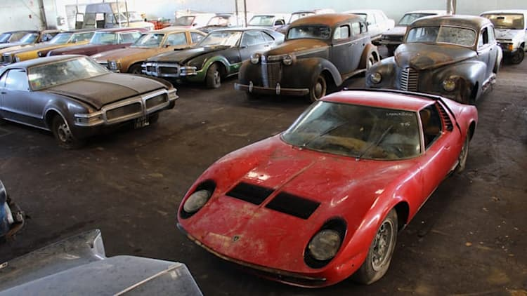 Massive barn find auction with classic Lamborghinis, Porsches, Jaguars happening in France