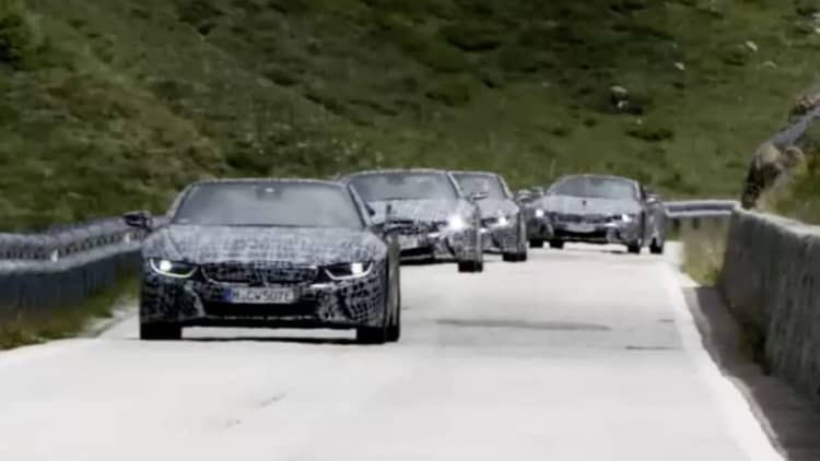 BMW teases the i8 Roadster yet again on twisty mountain roads