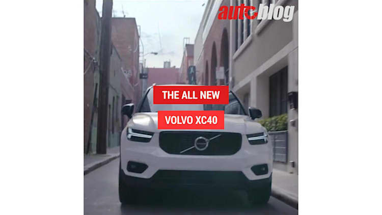 See Volvo's new XC40 in motion