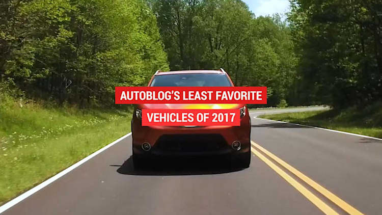 Least favorite vehicles of 2017