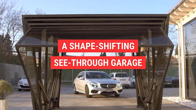 A shape-shifting, see-through garage