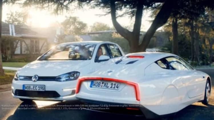 VW beams in Star Trek stars to promote e-Golf EV