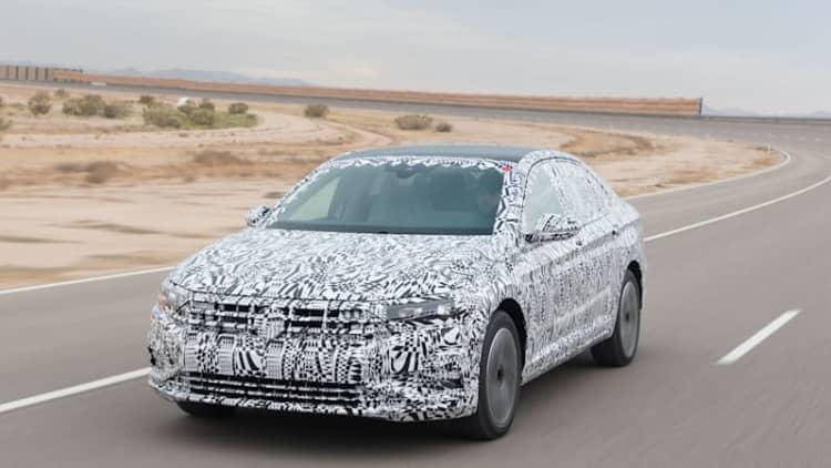 2019 Volkswagen Jetta Prototype First Drive Review | A desert rendezvous with a secret sedan