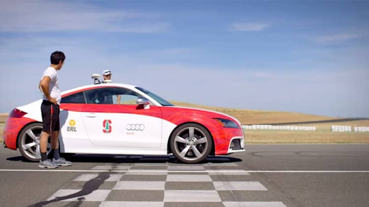 Watch Stanford's self-driving Audi hit the track