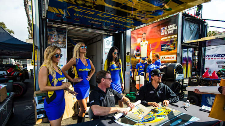 I was a Turner Girl for a day at the Long Beach Grand Prix because of a dare